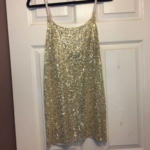 Free People Gold Sequin Slip/Intimates